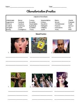 Characterization Practice - English and Spanish ESL