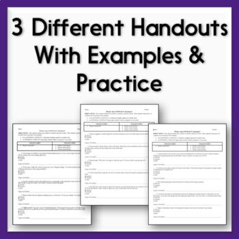 Characterization Practice Sheets - 3 Handouts on Direct & Indirect Methods