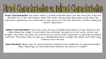 Characterization Presentation and Graphic Organizer