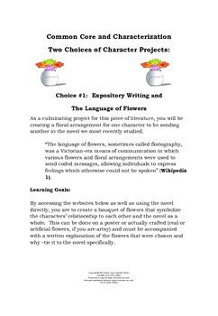 Common Core Projects for Any Literary Character