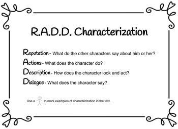 Characterization RADD Anchor Chart