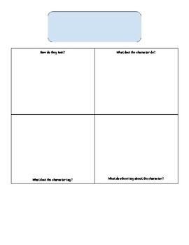 Characterization Sketch Essay with Organizer- Any novel!