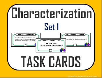 Direct Characterization / Indirect Characterization (Task Cards)