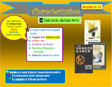 Indirect and Direct Characterization Task Cards- Complex C