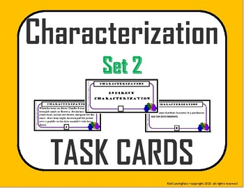 Direct Characterization / Indirect Characterization (Task Cards) Set 2