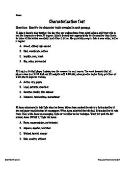 Characterization Test