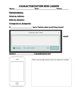 Characterization Twitter Lesson/Activity