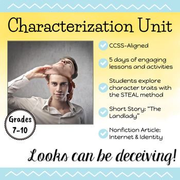 Characterization Unit: Looks Can Be Deceiving- with The Landlady