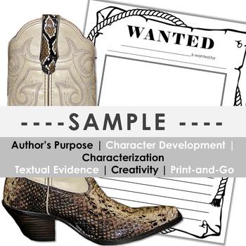Characterization WANTED Poster -- ANY GRADE!