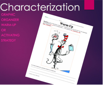 Characterization Warm-Up, Activating Strategy, Bellringer