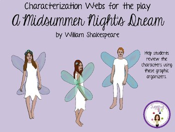 Characterization Webs for A Midsummer Night's Dream by William Shakespeare