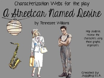 Characterization Webs for A Streetcar Named Desire by Tennessee Williams