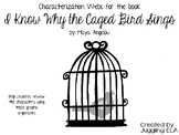 Characterization Webs for I Know Why the Caged Bird Sings by Maya Angelou