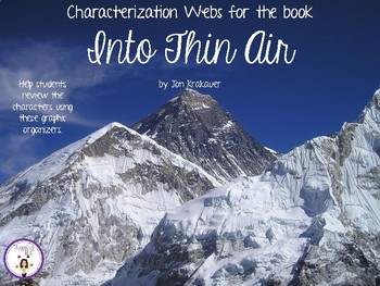 Characterization Webs for Into Thin Air by Jon Krakauer