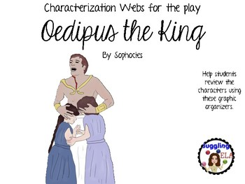 Characterization Webs for Oedipus the King by Sophocles
