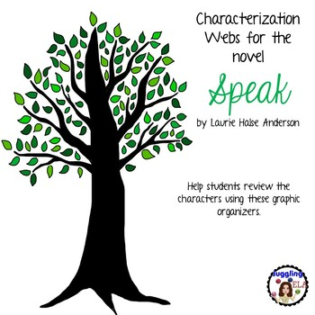 Characterization Webs for Speak by Laurie Halse Anderson