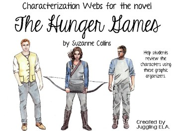 Characterization Webs for the novel The Hunger Games by Suzanne Collins