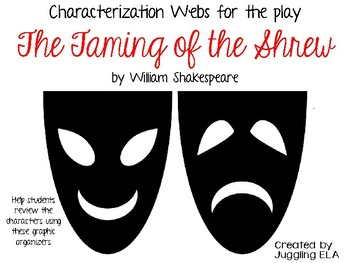 Characterization Webs for The Taming of the Shrew by William Shakespeare