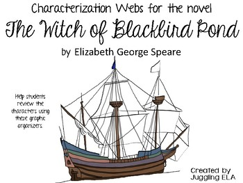 Characterization Webs for The Witch of Blackbird Pond by Elizabeth George Speare