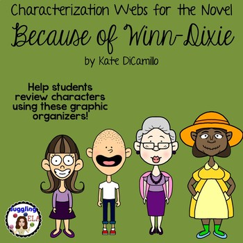 Characterization Webs for the Novel Because of Winn-Dixie by Kate DiCamillo