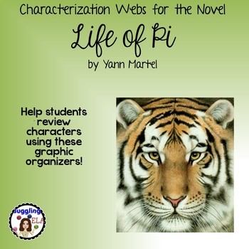 Characterization Webs For The Novel Life Of Pi By Yann Martel By