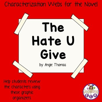 Characterization Webs for the Novel The Hate U Give by Angie Thomas