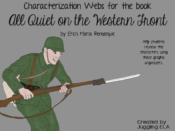 Characterization Webs for the book All Quiet on the Western Front