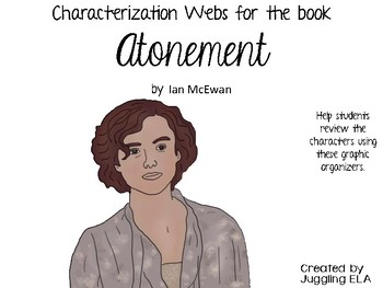 Characterization Webs for the book Atonement by Ian McEwan
