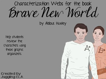 Characterization Webs for the book Brave New World by Aldous Huxley