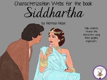 Characterization Webs for the book Siddhartha by Hermann Hesse