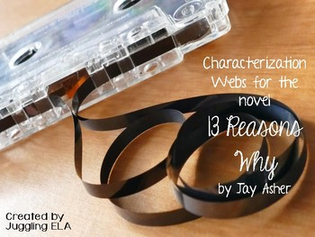 Characterization Webs for the novel 13 Reasons Why by Jay Asher
