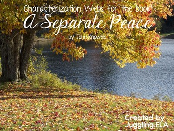 Characterization Webs for the novel A Separate Peace by John Knowles