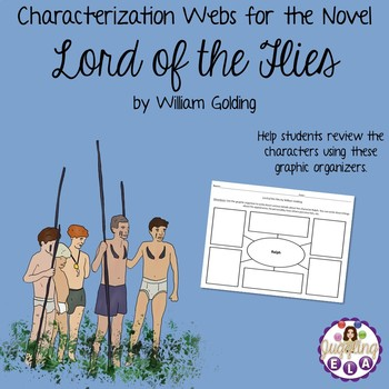 Characterization Webs for the novel Lord of the Flies by William Golding