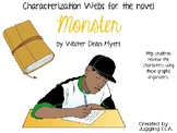 Characterization Webs for the novel Monster by Walter Dean Myers