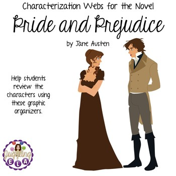 Characterization Webs for the novel Pride and Prejudice by Jane Austen