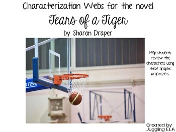 Characterization Webs for the novel Tears of a Tiger by Sharon Draper