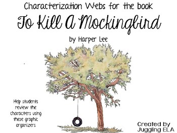 Characterization Webs for the novel To Kill a Mockingbird by Harper Lee