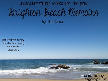 Characterization Webs for the play Brighton Beach Memoirs by Neil Simon