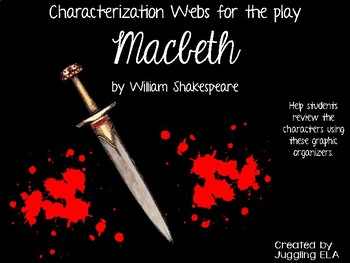 Characterization Webs for the play Macbeth by William Shakespeare