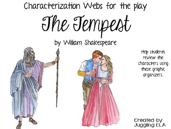 Characterization Webs for the play The Tempest by William Shakespeare