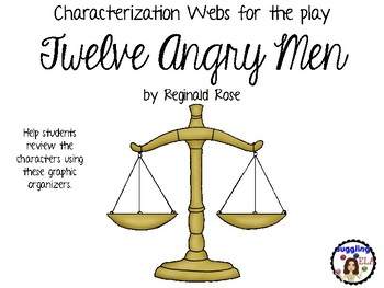 Characterization Webs for the play Twelve Angry Men by Reginald Rose