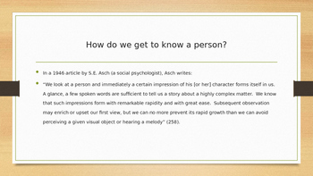 Characterization and Character Powerpoint