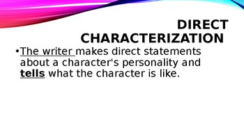 Characterization and Types of Characters Power Point