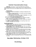 Characterization Essay Directions & Outline