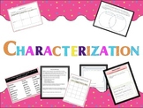 Characterization- graphic organizers, worksheets and hando