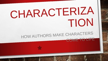 Characterization in Literature PowerPoint 97-2003 Version