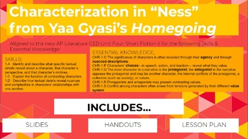 """Characterization in """"Ness"""" from Homegoing by Yaa Gyasi: AP Lit CED Unit Four"""