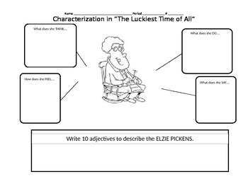 """Characterization in """"The Luckiest Time of All"""" by Lucille Clifton"""