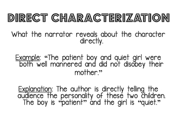 Characterization, theme, inference PP