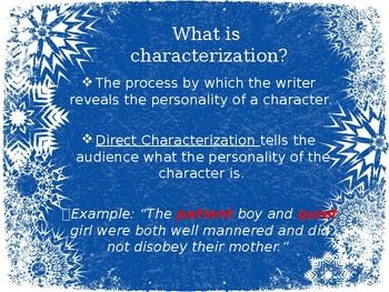 Characterization (using Frozen)
